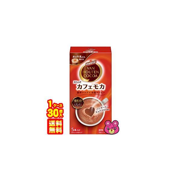 片岡物産 バンホーテン カフェ モカ 5本入×30個 スティック /食品