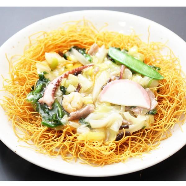 長崎風皿うどん 1人前 揚げ麺 10種類の具材セット えび いか 豚肉 わが家の麺自慢 冷凍|1001000|03