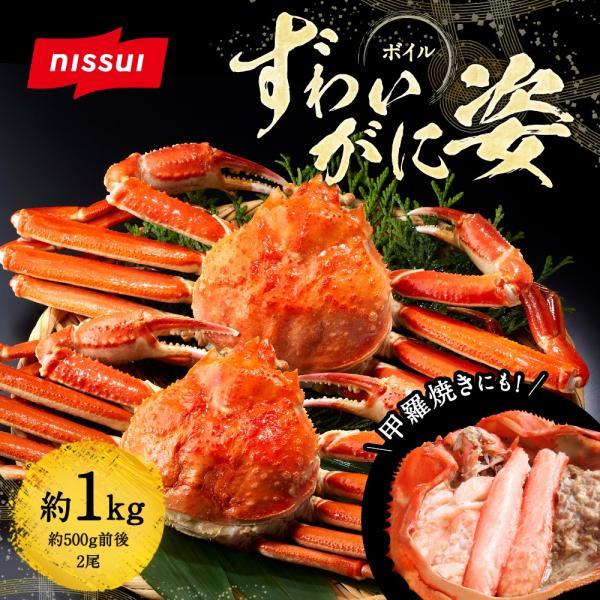 かに ズワイガニ カニ 蟹 ギフト 贈答用 姿2尾セット 約1kg 姿タイプのずわいがに ニッスイ お取り寄せギフト 1001000