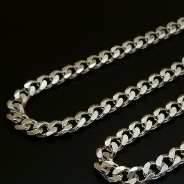 ロングサイズ 70cm 3.4mm 喜平チェーン6面カット喜平ネックレス存在感ありシルバーネックレス メンズネックレス|100ten|02