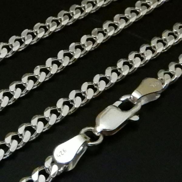 ロングサイズ 70cm 3.4mm 喜平チェーン6面カット喜平ネックレス存在感ありシルバーネックレス メンズネックレス|100ten|03