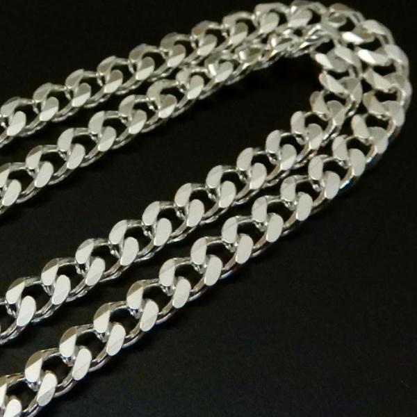 ロングサイズ 70cm 3.4mm 喜平チェーン6面カット喜平ネックレス存在感ありシルバーネックレス メンズネックレス|100ten|04