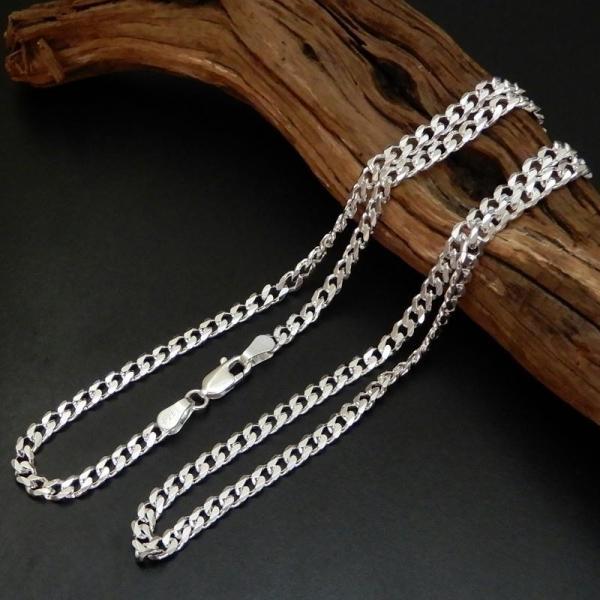 ロングサイズ 70cm 3.4mm 喜平チェーン6面カット喜平ネックレス存在感ありシルバーネックレス メンズネックレス|100ten|05