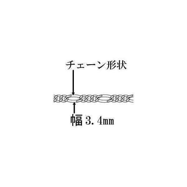 (60cm 3.4mm)フィガロネックレス シルバーネックレス チェーンネックレス シルバーチェーン シルバー925 メンズネックレス フィガロチェーン 100ten 03