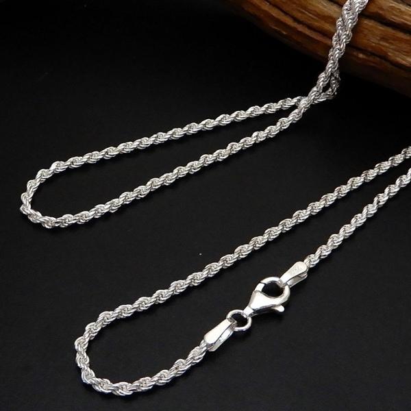ネックレス メンズ シルバーチェーン メンズネックレス  シルバーネックレス シルバー925 50cm 1.9mm ロープチェーン ネックレス シンプル ロープネックレス|100ten|02