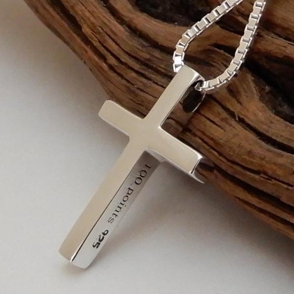 小さいけど、かっこいい クロス ネックレス シルバー 925 十字架 ペンダント メンズネックレス シンプル シルバーネックレス 100ten 02