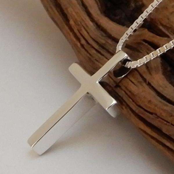 小さいけど、かっこいい クロス ネックレス シルバー 925 十字架 ペンダント メンズネックレス シンプル シルバーネックレス 100ten 03