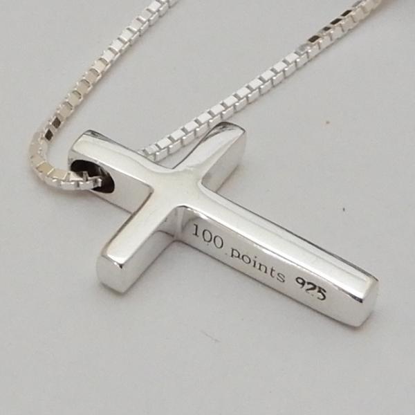 小さいけど、かっこいい クロス ネックレス シルバー 925 十字架 ペンダント メンズネックレス シンプル シルバーネックレス 100ten 04