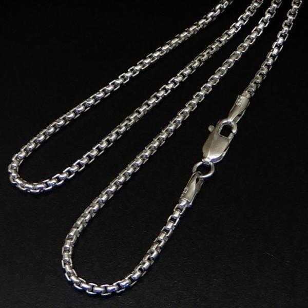 ネックレス メンズ シルバーチェーン ネックレス シルバーネックレス メンズネックレス 2.0mm 50cm 角甲丸チェーン シルバー925 甲丸ネックレス|100ten|02