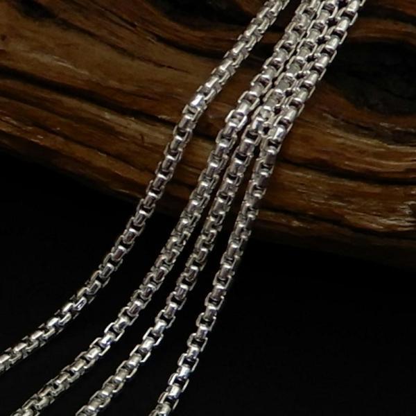 ネックレス メンズ シルバーチェーン ネックレス シルバーネックレス メンズネックレス 2.0mm 50cm 角甲丸チェーン シルバー925 甲丸ネックレス|100ten|03