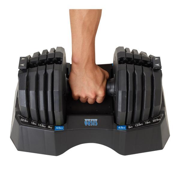 期間限定セール 可変式ダンベル  22.5kg アジャスタブル ダンベル FLEXBELL  │  可変ダンベル 鉄アレイ パワーブロック ウェイトトレーニング 筋トレグッズ