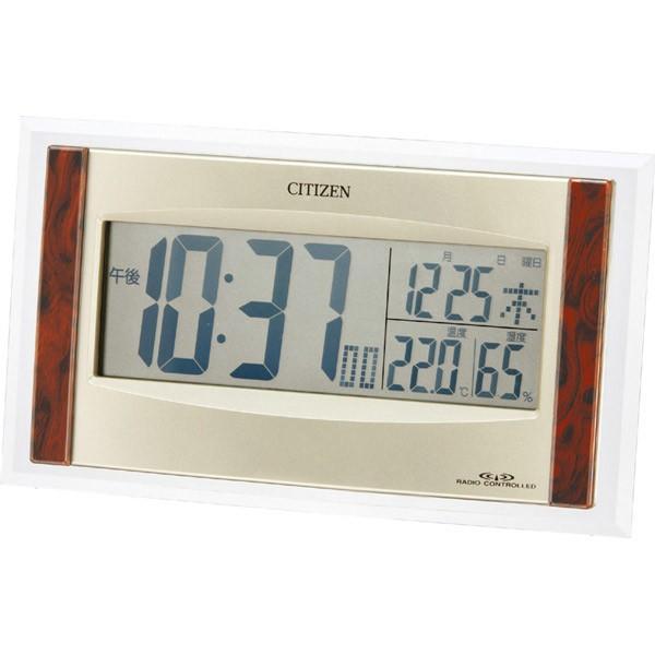 目覚まし時計 シチズン パルデジットR089  ソーラー電波 8RZ089-023|10keiya