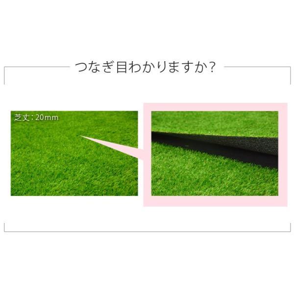 人工芝 ロール 芝生 1m×10m 芝丈20mm 単品 パークシアライト|1128|05