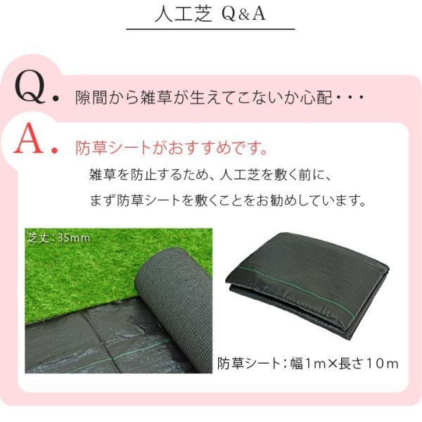 人工芝 ロール 芝生 1m×10m 芝丈20mm 単品 パークシアライト|1128|09