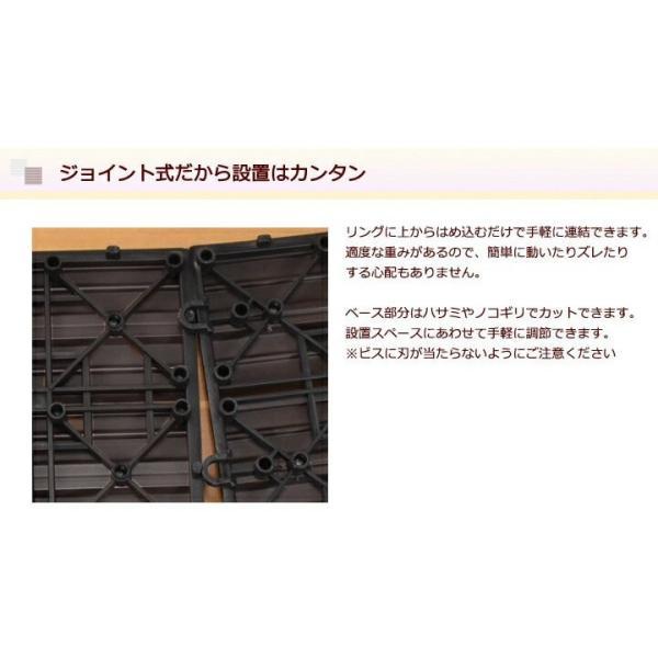 ウッドパネル ウッドデッキ ウッドデッキパネル 人工木 樹脂 (81枚セット) ダークブラウン クレアーレST2 デッキパネル ウッドタイル|1128|08
