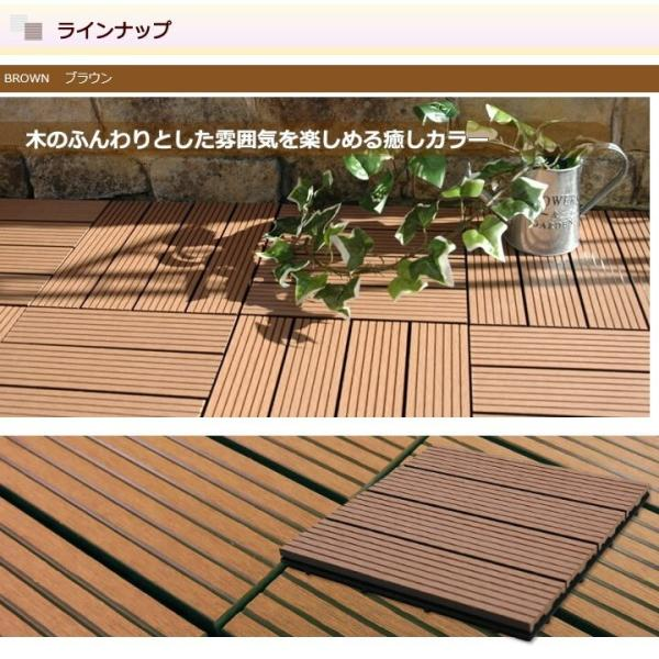 ウッドパネル ウッドデッキ ウッドデッキパネル 人工木 樹脂 (108枚セット) ダークブラウン クレアーレST2 デッキパネル ウッドタイル|1128|10
