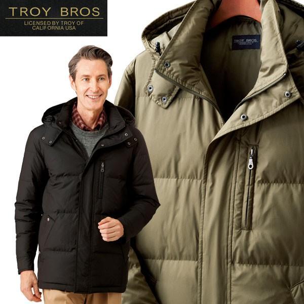 トロイブロス ダウンジャケット メンズ アウター 羽毛 高品質ダウン 700フィルパワー 防寒着 保温 フード付 秋冬 957367