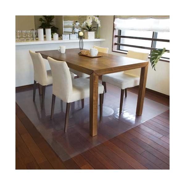 アキレス 透明ダイニングテーブル下マット(床保護マット)180×150cm(2枚連結タイプ)