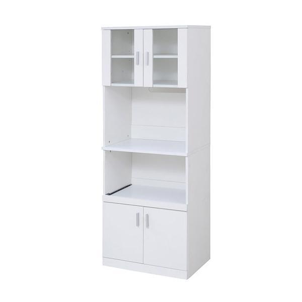 レンジ台 キッチン収納 レンジボード シンプルなホワイト 幅60cm FAP-0016-WH-JK|1147kodawaru|02