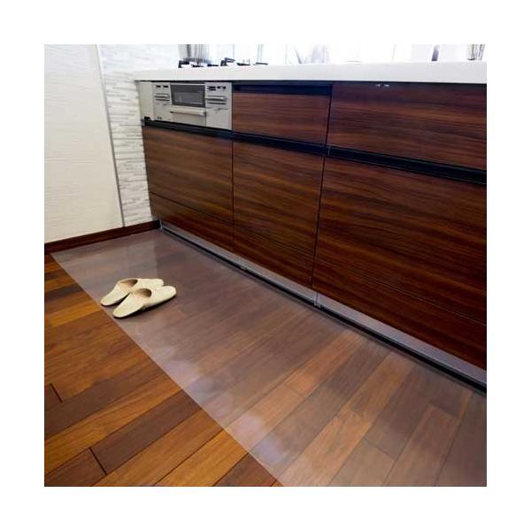 アキレス 透明キッチンフロアマット 60×210cm|1147kodawaru