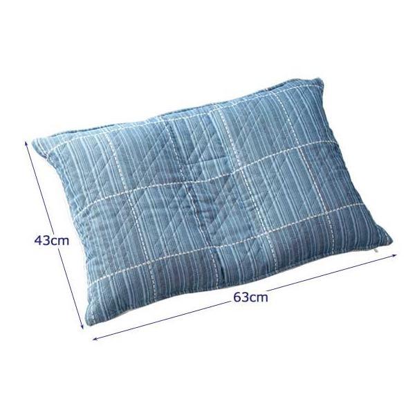 【欠品】三河木綿 フィット枕 上下・左右・中央の5箇所を好みの高さに調整 0395|1147kodawaru|03
