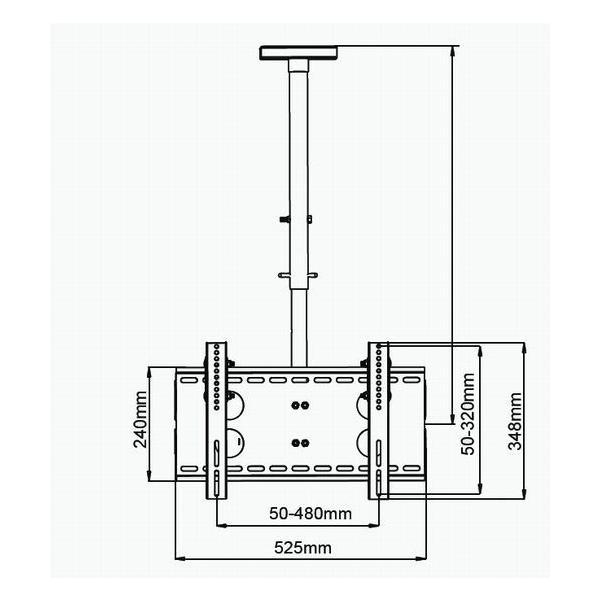 汎用 液晶テレビ天吊り金具26 42インチ CPLB102S-S-a シルバー テレビ用天吊り金具|11myroom|02
