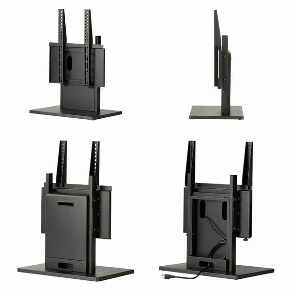 卓上型業務用ディスプレイスタンド MT-4255 42型-55型 テレビ台 ブラック黒 会社オフィス会議用 SDS エスディエス 金属製 tv stand 完成品|11myroom|05