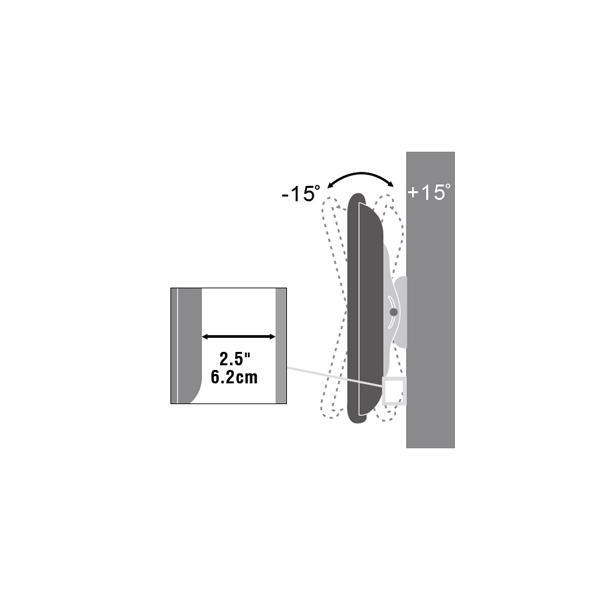 テレビ壁掛け金具 テ壁掛け tv 壁掛け テレビ 金具 37型〜65型 上下15度角度調節可能 PLB-117-MB 薄型 液晶テレビ対応 ブラック(黒)|11myroom|03