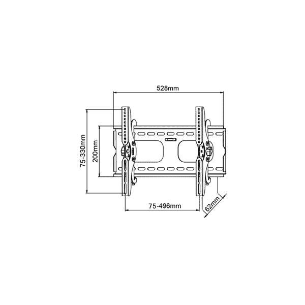 テレビ台 壁掛け 金具 26型 42型 上下15度角度調節可能 PLB-117-SS 薄型 液晶テレビ対応 シルバー|11myroom|02
