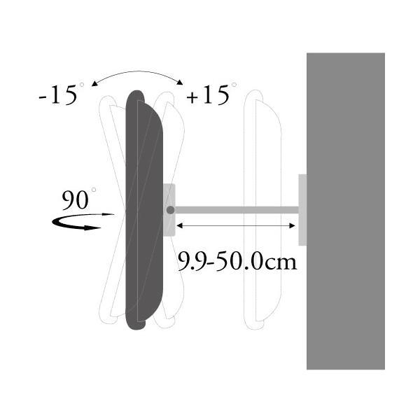 テレビ台 壁掛け 金具 37型 65型 上下15度、左右最大45度角度調節可能PLB-137MS 汎用薄型・液晶テレビ シルバー|11myroom|03