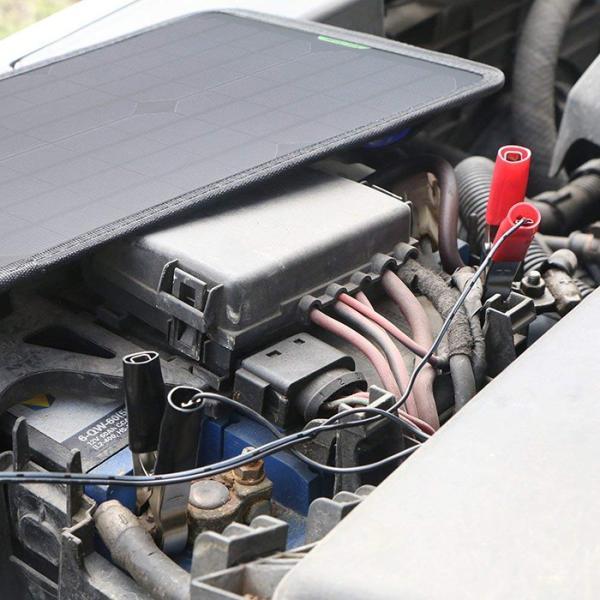 カーソーラーチャージャー 10W 18V 高効率 ソーラーパネル 単結晶 ポータブル 超薄型 自動車  ボート バッテリーへの補充電 メンテナンス ソーラー充電器 11oclock 06