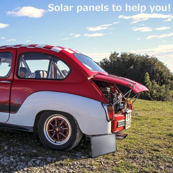 カーソーラーチャージャー 10W 18V 高効率 ソーラーパネル 単結晶 ポータブル 超薄型 自動車  ボート バッテリーへの補充電 メンテナンス ソーラー充電器 11oclock 09