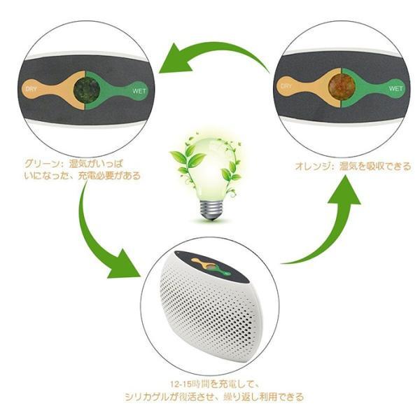 ミニ除湿機 充電式ポータブル吸湿乾燥機 カビ防止 梅雨対策 家庭用 小部屋用 安心のPSE認証済み|11oclock|03