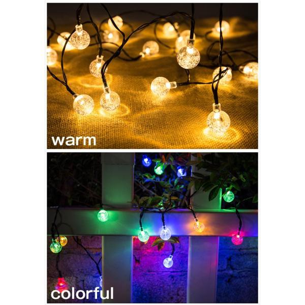 LED30球 6m led イルミネーションライト ガーデンライト ソーラー クリスマス イルミネーション 屋外 防水  光センサー内蔵 自動ON/OFF 8種類点灯パターン|11oclock|11
