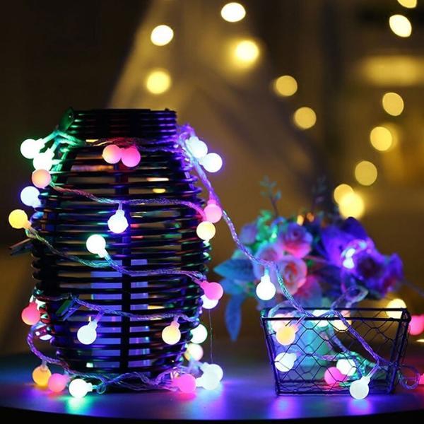 ストリングライト  LEDイルミネーションライト 飾り 多色 屋内/屋外/パーティー装飾 8モード16フィート5Mグローブ50LED|11oclock|02