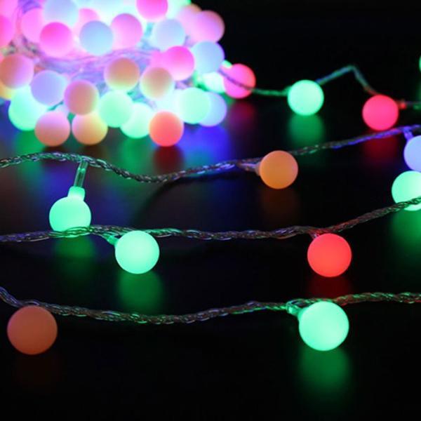ストリングライト  LEDイルミネーションライト 飾り 多色 屋内/屋外/パーティー装飾 8モード16フィート5Mグローブ50LED|11oclock|04