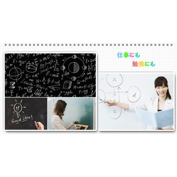黒板シート ブラックボードシート 黒板ウォールステッカー 貼ってはがせるシール式子供のお絵描きや伝言メモなど  11oclock 10