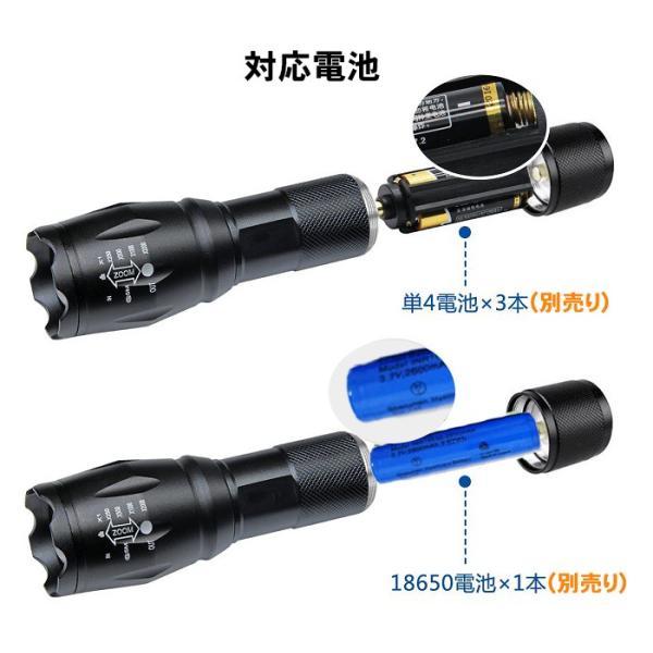 LED 懐中電灯 米CREE社製T6 LEDズームライト ズーム式5モード 超高輝度 1000ルーメン 防水ハンディライト USB充電器セット  18650電池付属|11oclock|07