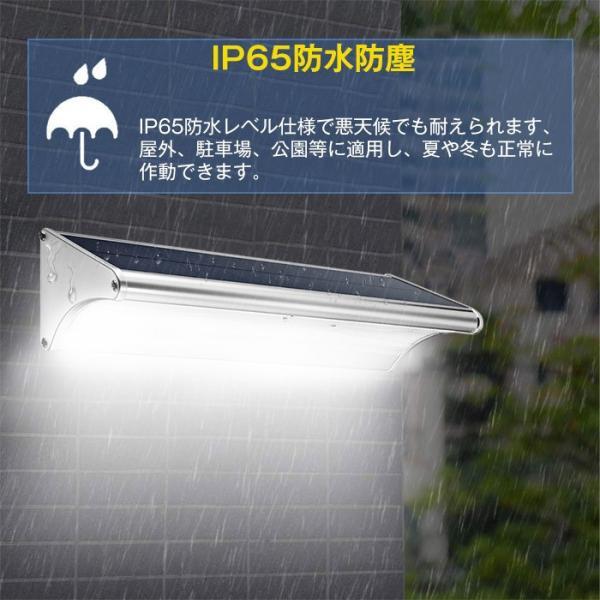ソーラーライト センサーライト 高輝度 人感センサー搭載 ソーラー充電式ライト 屋外/玄関/芝生/車道/ガーデン/庭などに照明用 防水防犯 60LED|11oclock|10