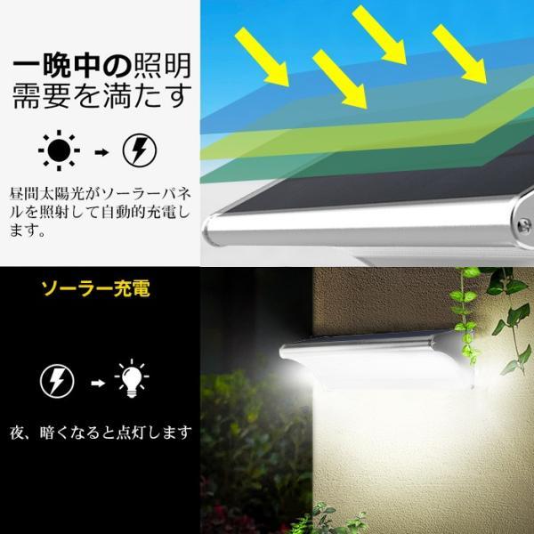 48個LED ソーラーライト 900lm マイクロ波人感センサー搭載 4種照明モード 防水防犯 屋外/玄関/芝生/車道/ガーデン/庭などに照明用|11oclock|05