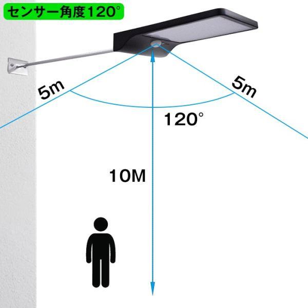 ソーラーライト 屋外照明 屋外ライト 36LED高輝度 壁掛けのledセンサーライト ソーラー充電 防犯ライト夜間自動点灯 屋根軒下玄関などに対応|11oclock|08