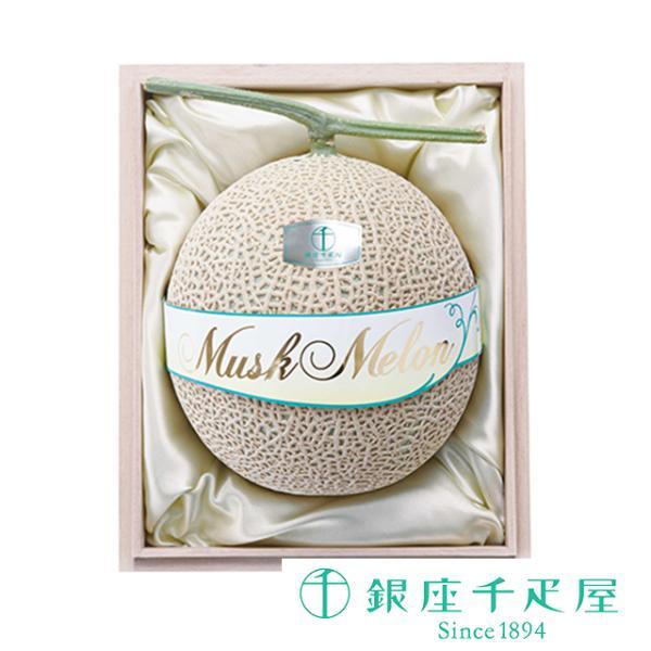 千疋屋 フルーツ 詰め合わせ お取り寄せ 贈り物 ギフト Gift 銀座千疋屋 マスクメロン(桐箱)1個入(約1.5kg)