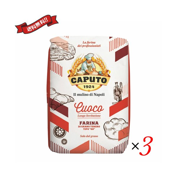 ピザ 小麦粉 ピザ粉 カプート サッコロッソ クオーコ1kg 3袋セット 送料無料! 送料無料