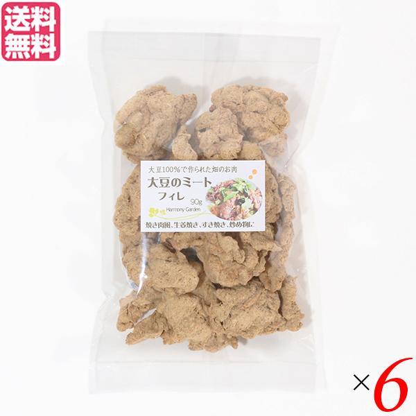 大豆ミート 国産 ヒレ 大豆ミート フィレ 90g  6袋セット 送料無料