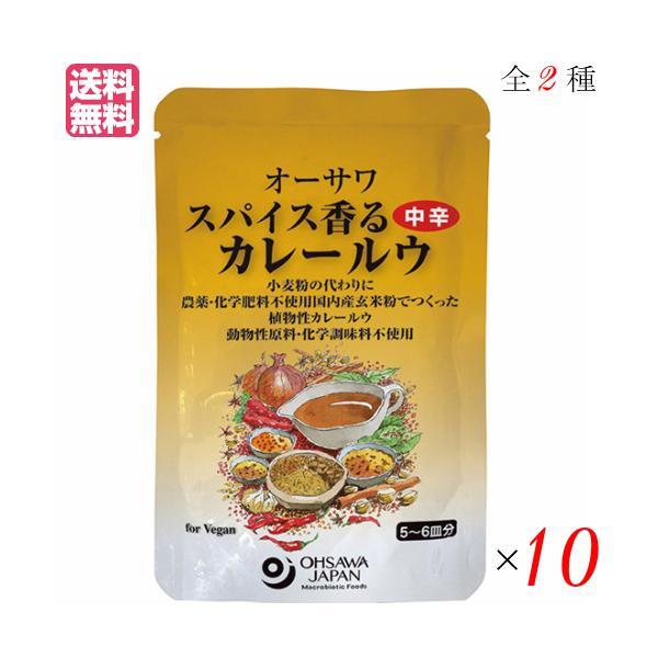 カレー カレー粉 カレールー オーサワ スパイス香るカレールウ 120g 全2種 選べる10袋セット 送料無料