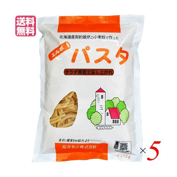 パスタ ショートパスタ マカロニ 国内産エルボパスタ 300g 桜井食品 5袋 送料無料