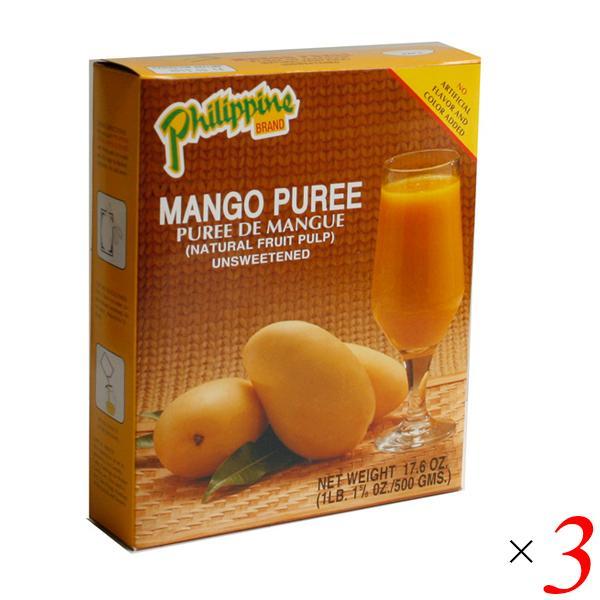 マンゴーピューレ 志立 500g 3箱セット マンゴー フィリピン産 果肉