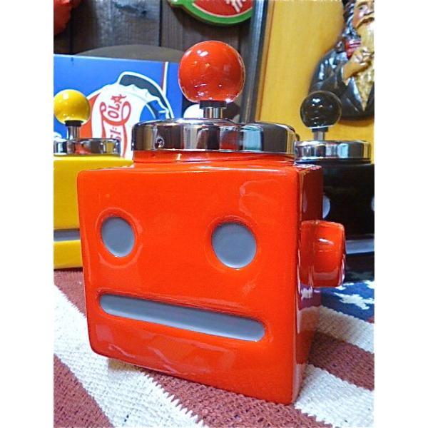 おもしろ ユニーク グッズ ロボタン灰皿 アッシュトレイ RED-AR0012