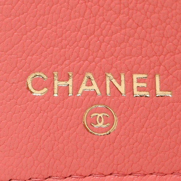 シャネル 折財布 レディース CHANEL A81651 Y33399 K1115 ピンク|1andone|08