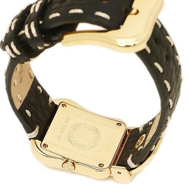 フェンディ 腕時計 レディース FENDI F384211DDC ブラック/ゴールド